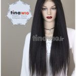 کلاه گیس ویو زنانه سینمایی جلوتور با موی طبیعی تیناویگ مدل HH150 رنگ 2