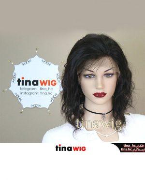 کلاه گیس طبیعی زنانه سینمایی جلوتور (جلو فرق) تیناویگ مدل HH41 رنگ 2