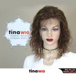 کلاه گیس زنانه طبیعی سینمایی جلوتور (جلوفرق) تیناویگ مدل HH41 رنگ 6