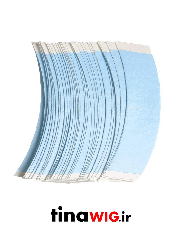 چسب تیپ دوطرفه آبی (اصلی) blue tape for lace wig