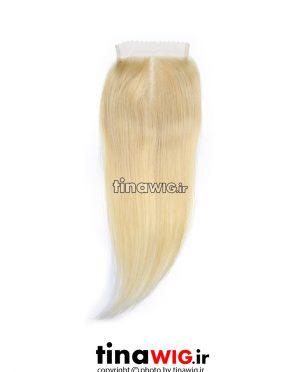 پروتز ترمیم موی زنانه رنگ بلوند استخوانی ۶۱۳