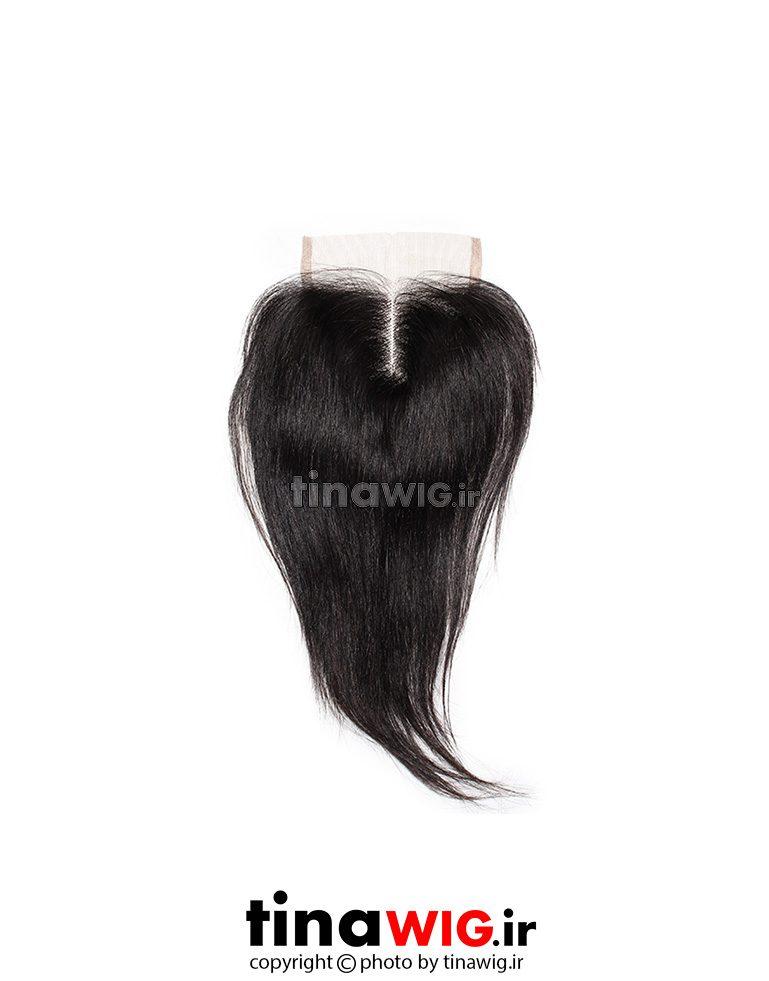 پروتز ترمیم موی زنانه کوتاه رنگ مشکی