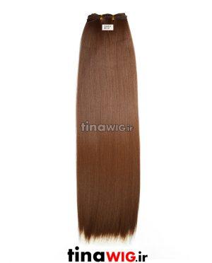 موی سر دوخت ریسه ای مات رنگ دارجینی کد 12