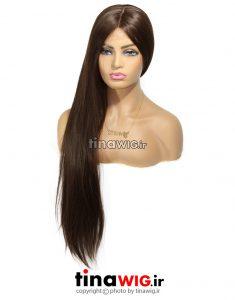 کلاه گیس زنانه مدل فلورا قهوه ای زیتونی