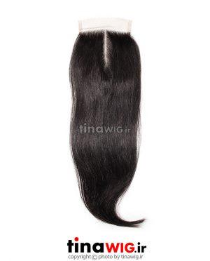 پروتز ترمیم موی زنانه رنگ مشکی ۴۰ سانتی متری