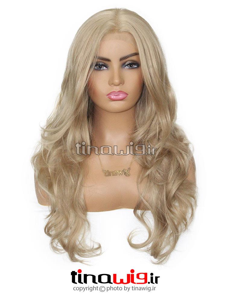 کلاه گیس زنانه مدل فارا رنگ دودی زیتونی
