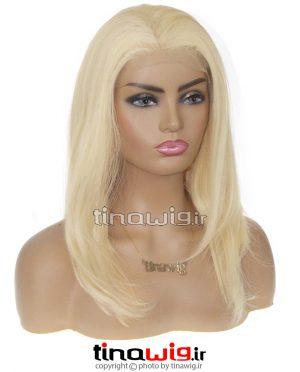 کلاه گیس زنانه مصری مصنوعی بلوند کاهی کد sharon-88
