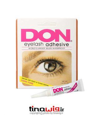 چسب مژه ضدآب دان کد ۰۰-۰۹۳۰ رنگ تیره don eyelash adhsive